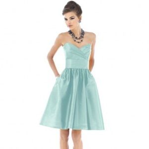 Alfred sung strapless bridesmaid dress